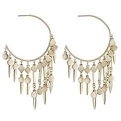Mood - Charm fringed hoop earrings