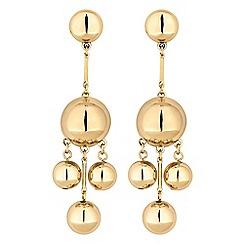Mood - Gold orb drop earrings