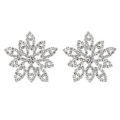 Mood - Crystal flower stud earrings
