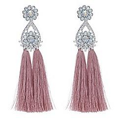 Mood - Floral tassel drop earrings