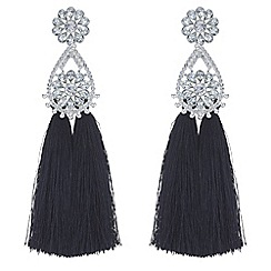 Mood - Floral tassel drop earrings