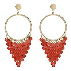 Mood - Sequin fringe hoop earrings