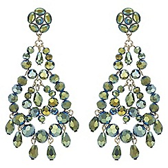 Mood - Metallic beaded drop earrings