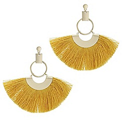 Mood - Oversized fringe hoop earrings