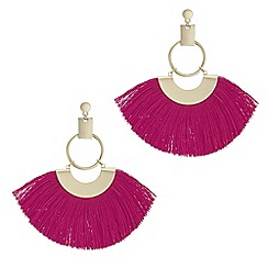 Mood - Oversized fringe hoop earrings