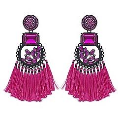 Mood - Crystal tassel statement earrings