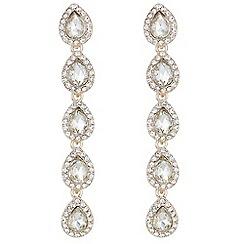 Mood - Pave pear drop earrings