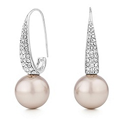 Mood - Pave pearl drop earrings