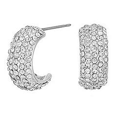 Mood - Pave half hoop earrings