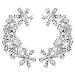 Mood - Floral crystal cluster ear cuff set