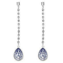 Mood - Lilac crystal pear drop earrings