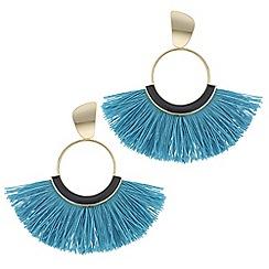 Mood - Fringed hoop earrings
