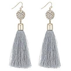 Mood - Pave orb tassel drop earrings