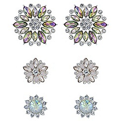 Mood - Crystal floral earrings set
