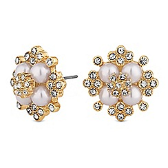 Mood - Pearl and crystal cluster earrings