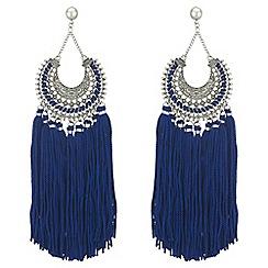 Mood - Ornate statement tassel earrings