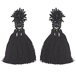 Mood - Bead cluster tassel statement earrings