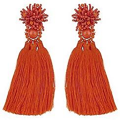 Mood - Bead cluster tassel statement earrings