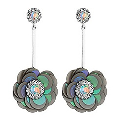 Mood - Floral sequin drop earrings