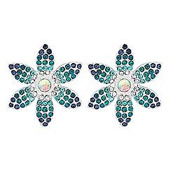 Mood - Crystal floral stud earrings