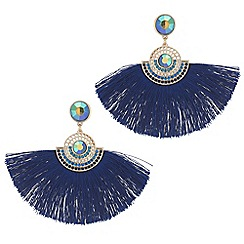 Mood - Metallic fringe earrings