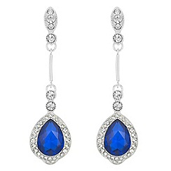 Mood - Crystal pear drop earrings