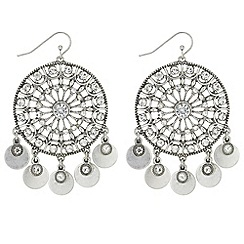 Mood - Crystal disc drop earrings