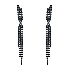 Mood - Jet diamante twist earrings