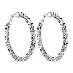 Mood - Silver sparkle crystal hoop earring