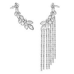 Mood - Silver crystal diamante shower ear cuff set