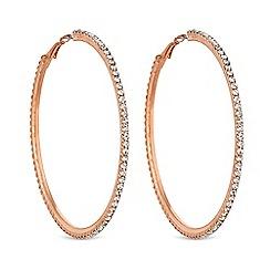 Mood - Rose gold diamante hoop earring