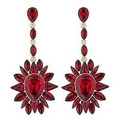 Mood Red Crystal Cer Statement Earrings