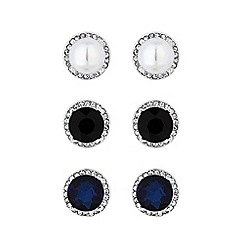 Mood - Silver Plated Multi-Coloured 3 Pack Stud Earrings