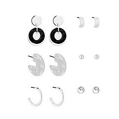 Mood - Silver Plated Multi-Coloured 6 Pack Stud Earrings