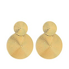 Mood - Gold plated gold metal swirl double drop earrings