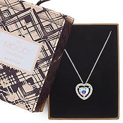 Mood - Aurora borealis crystal heart necklace