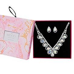 Mood - Crystal peardrop jewellery set in a gift box