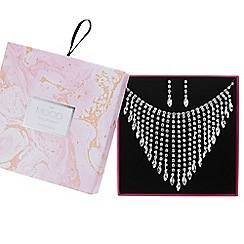 Mood - Diamante graduated drop jewellery set