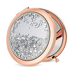 Mood - Rose gold crystal shaker compact mirror