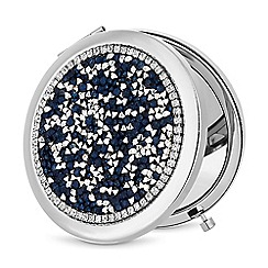 Mood - Blue crystal cluster compact mirror