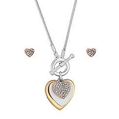 Mood - Gold and silver heart charm jewellery set