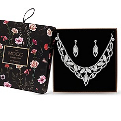 Mood - Gold diamante crystal jewellery set in a gift box