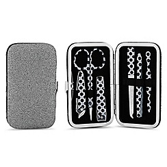 Mood - Silver glitter manicure set