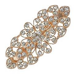 Mood - Crystal open floral hair clip