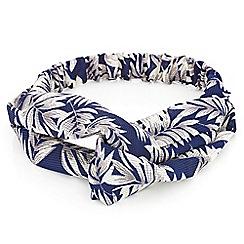 Mood - Leaf print bandeau headband