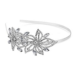 Mood - Silver crystal floral headband