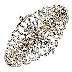 Mood - Gold crystal ornate hair clip