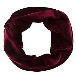 Mood - Red velvet knot front headband