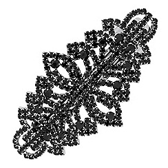 Mood - Black crystal filigree hair slide
