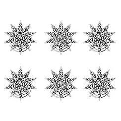 Mood - Silver crystal star hair twisties